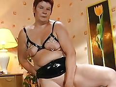 Fat mature German lady enjoys a hard cock  DBM Video