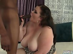 Beautiful BBW Holly Jayde takes a black cock