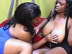 Lesbian ebony slut wants to pump this fake dick