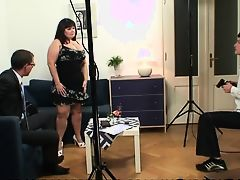 Fatty is double fucked after photosession