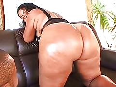 Fat rod enters her anal