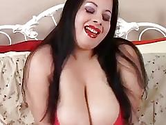 Beautiful big tits brunette BBW has a wet pussy